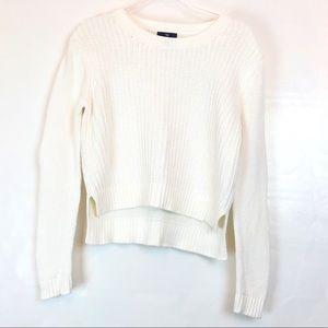 Gap Cream Cotton Cropped Sweater Size M